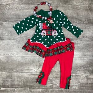 Girls boutique christmas gifts truck outfit
